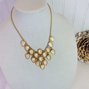 Pretty Blush & Gold Statement Necklace